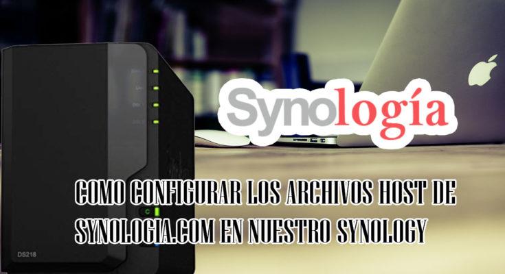 como usar los host de synologia